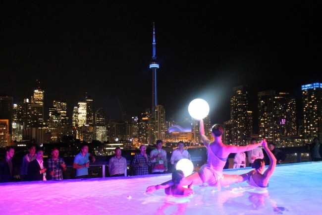 Pool Dancers at the Thompson Hotel Rooftop